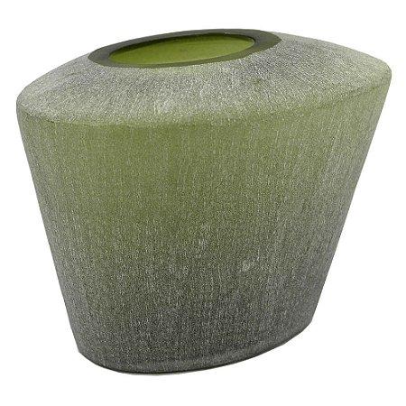Vaso de Vidro Verde Fosco P