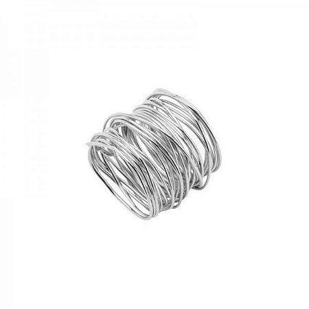 Conjunto Argolas de Guardanapo Espiral Prata