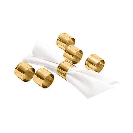 Conjunto Porta Guardanapo Elegance Dourado