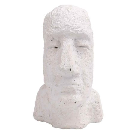 Escultura Moai Branca P