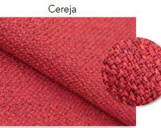 Tecido Linen Cereja