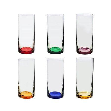 Conjunto Copos de Licor Coloridos 6 Pçs