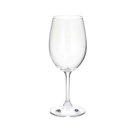 Conjunto Taças p/ Vinho de Cristal Caroline 6 Pçs
