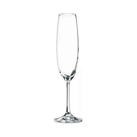 Conjunto Taças p/ Champagne de Cristal 6 Pçs