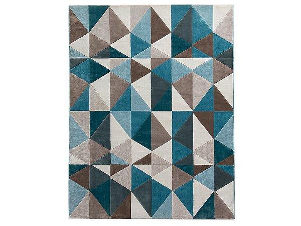 Tapete Trigono Azul  200 x 300 cm