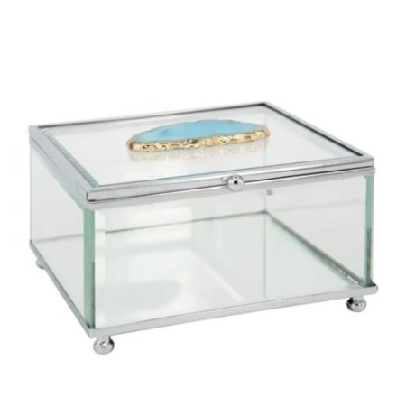 Caixa Glass Ágata Azul