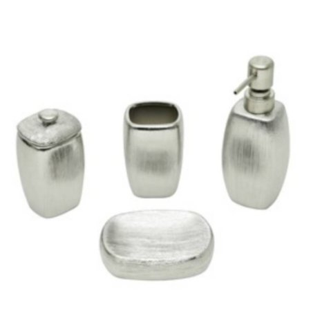 Conjunto p/ Banheiro Lux Prata 3pçs