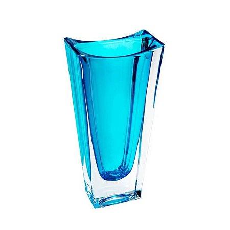 Vaso de Cristal Turquesa