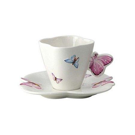 Conjunto Xícaras Café Butterfly 6pçs