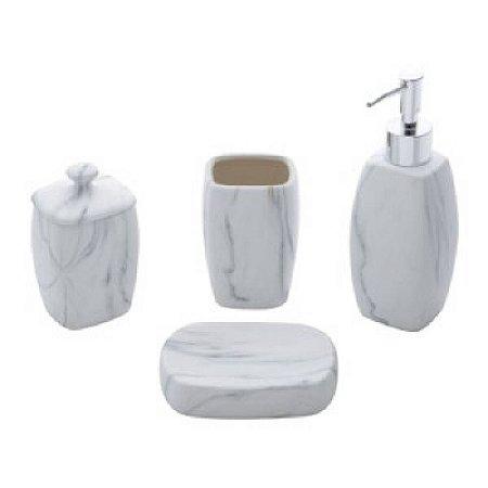 Conjunto Cerâmica p/ Banheiro 4pçs