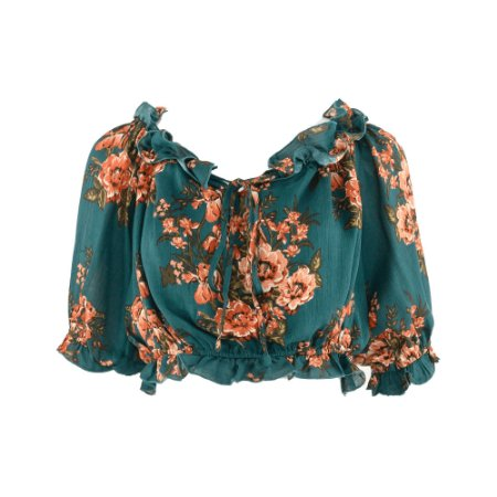 CROPPED OMBRO A OMBRO FLORAL