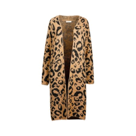 CARDIGAN LONGO ANIMAL PRINT
