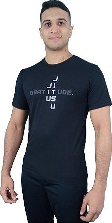 Camiseta Gratitude Preto