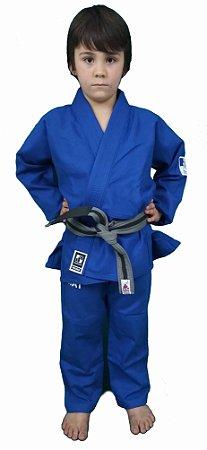 Kimono Checkmat Juvenil Trançadinho Azul