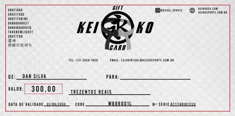 Gift Card (Vale Presente)