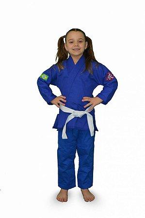 Kimono Infantil Trançadinho Azul