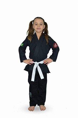 Kimono Infantil Trançadinho Preto