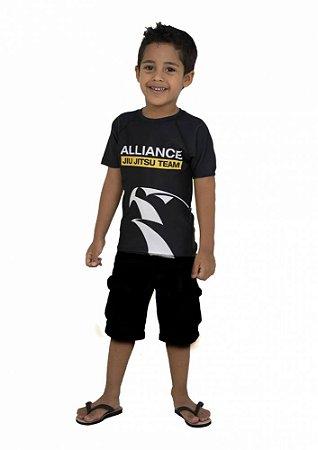 Rashguard Alliance Juvenil Preto
