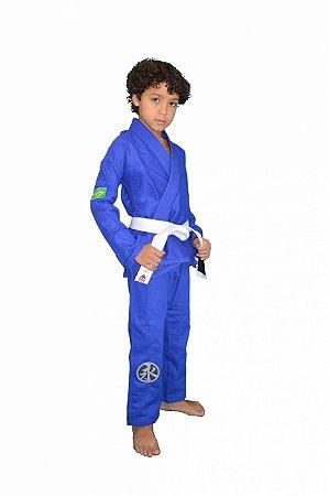 Kimono Juvenil Trançadinho Azul