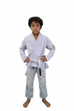Kimono Juvenil Trançadinho Branco