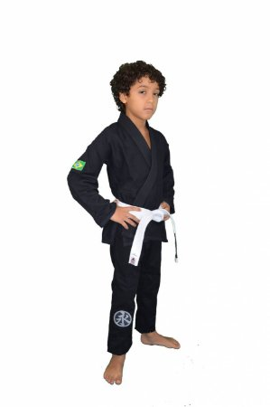 Kimono Juvenil Trançadinho Preto