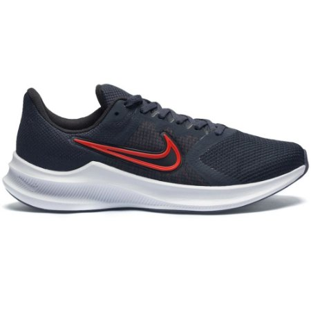 TENIS MASCULINO NIKE CW3411 DOWNSHIFTER 11 THUNDER BLUE/RED