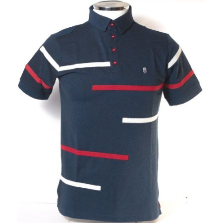 POLO MASCULINO BLACK WEST PL31400514 PRETO/ROYAL