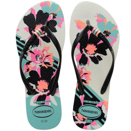 SANDALIA FEMININO HAVAIANAS SLIM THEMATIC ROSA HOLLYWOOD