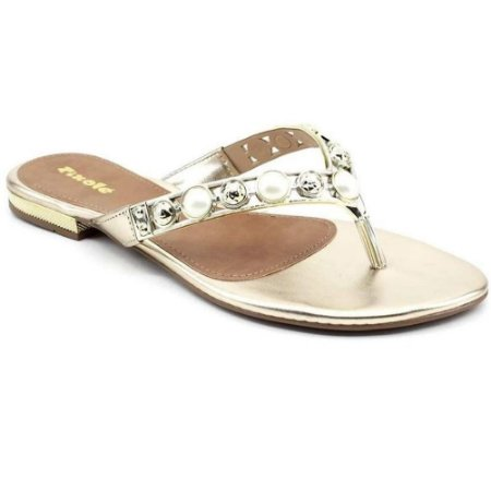 TAMANCO FEMININO VIA SCARPA 9582 LIGHT GOLD/PEROLA