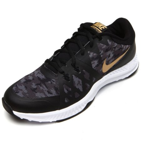 TENIS MASCULINO NIKE 921690 AIR EPIC SPEED TR  PRETO/OURO ME