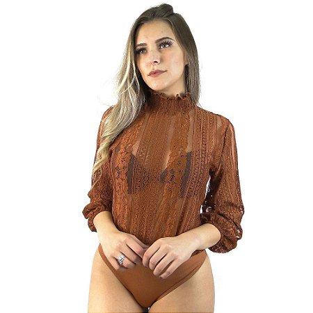 BLUSA FEMININO AZAYA 180119 CARAMELO