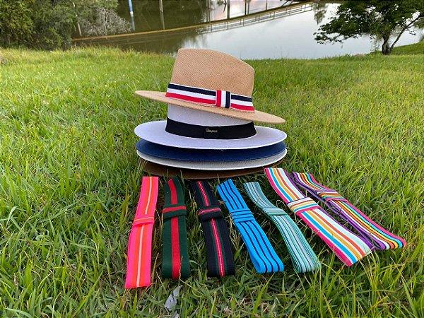 Chapéu Estilo Panamá + Faixa Extra