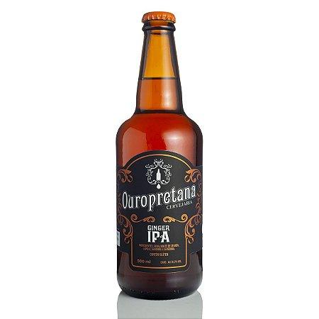 Cerveja Ouropretana Ginger IPA 500ml