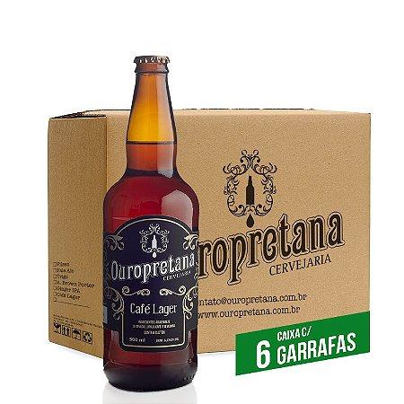 Caixa c/ 6 unidades - Ouropretana Café Lager500ml