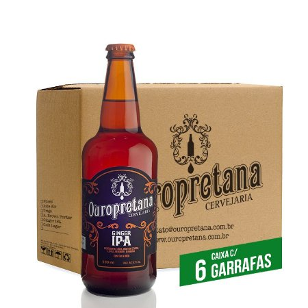Caixa c/ 6 unidades - Ouropretana GingerIPA500ml