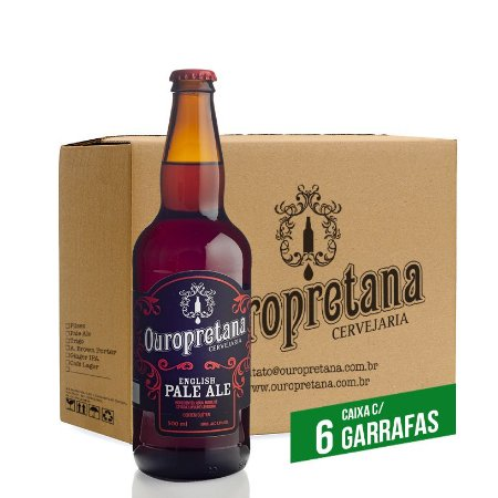 Caixa c/ 6 unidades - Ouropretana English Pale Ale 500ml