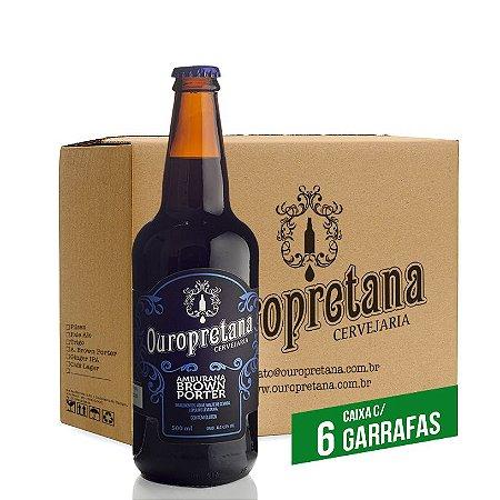 Caixa c/ 6 unidades - Ouropretana Amburana Brown Porter500ml