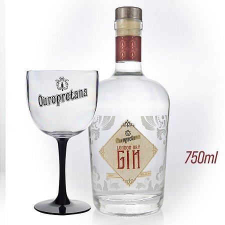 Kit -  Gin London Dry Ouropretana 750ml + Taça Acrílico