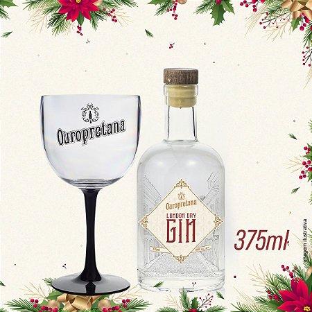 Kit - Gin London Dry Ouropretana 375ml + Taça acrílico