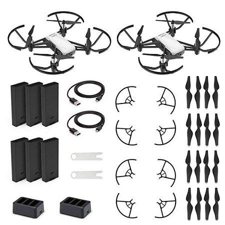 Kit 2 Drones Ryze DJI Tello Boost Combo com câmera HD