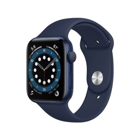 Apple Watch Series 6 GPS 44mm Alumin Azul Pulseira Deep Navy
