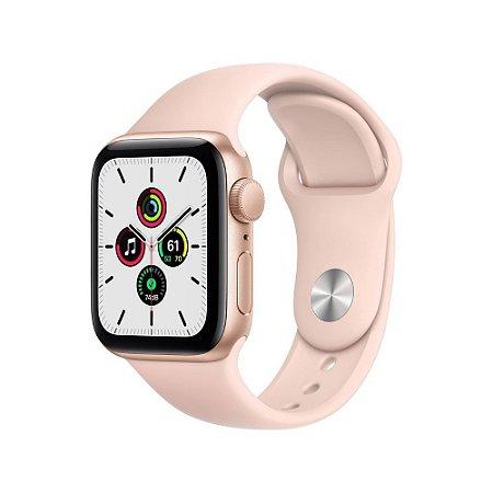 Apple Watch SE - GPS 40mm Alumínio Dourado - Pulseira Areia Rosa
