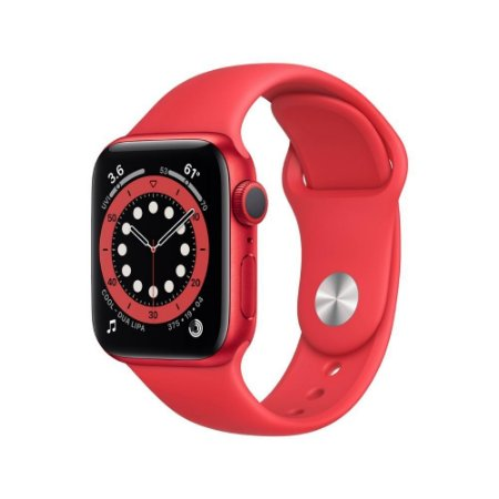 Apple Watch Series 6 GPS, 40 mm, Alumínio e Pulseira Vermelha