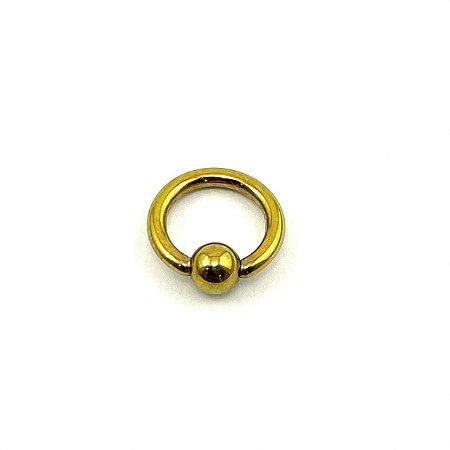 Piercing - Argola - Captive - Titânio - Anodizado - Espessura 1.2 mm