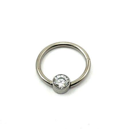Piercing - Captive - Clicker - Titânio - Zircônia - Espessura 1.2 mm