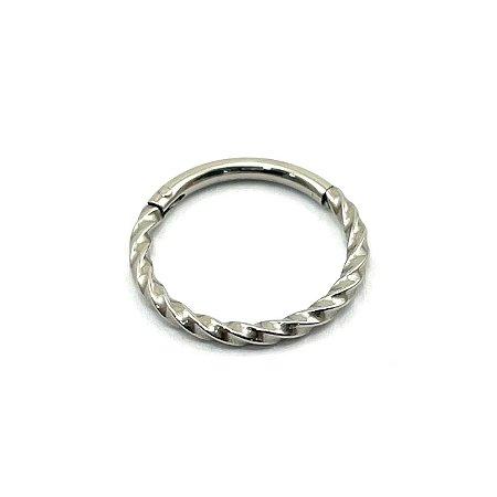 Piercing - Argola - Segmentada - Articulada - Clicker - Aço Cirúrgico - Espessura 1.2 mm