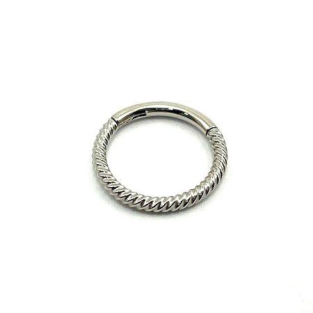 Piercing - Argola - Segmentada - Articulada - Clicker - Aço Cirúrgico - Corda - Espessura 1.2 mm