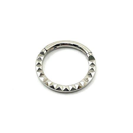 Piercing - Aço Cirúrgico- Argola - Segmentada - Clicker  - Espessura 1.2 mm