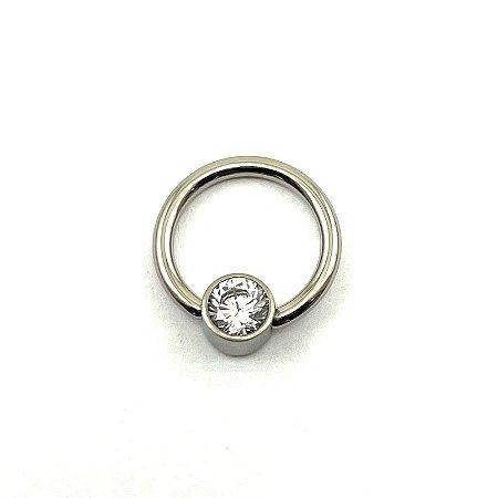 Piercing  Titânio - Captive  - Cristal - Espessura 1.2 mm