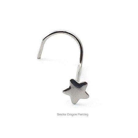 Piercing - Nostril Nariz - Aço Cirúrgico - Estrelinha de aço sem Pedra